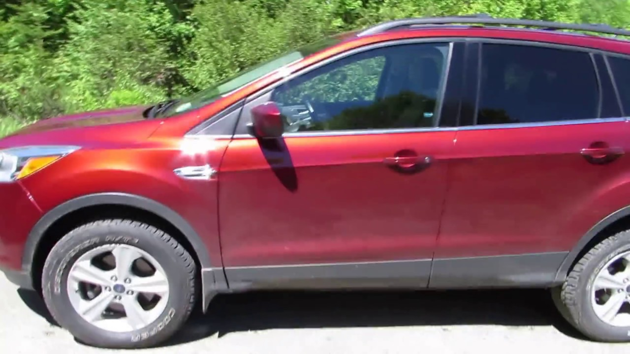 Lifted ford escape mountain descent