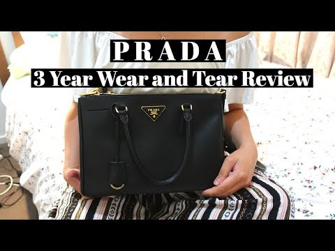 PRADA SAFFIANO DOUBLE ZIP LUX TOTE - 3 YEAR REVIEW | Wear and tear and What's in my bag