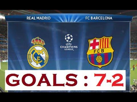 Real Madrid vs FC Barcelona - GOALS 7-2 - PES 2014 pc ...
