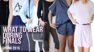 What to wear during FINALS WEEK (Spring 2015) | ASHLEEEYBASH