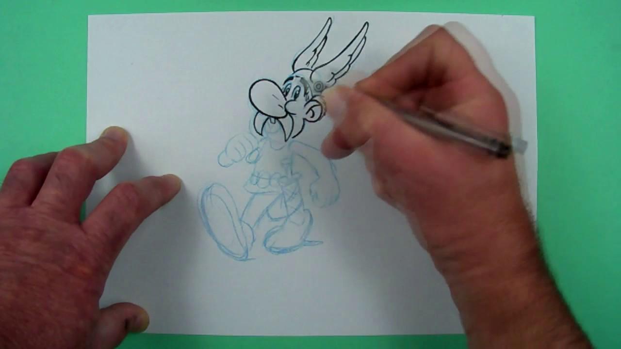 Wie zeichnet man Asterix ? Zeichnen für Kinder