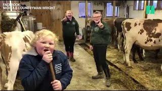 Ces trois soeurs dansent au milieu de leurs vaches pour sensibiliser à la crise du lait
