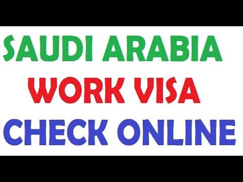 how to check saudi arabia work visa online youtube. Black Bedroom Furniture Sets. Home Design Ideas