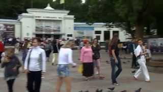 Город-курорт  Трускавец 10 июля 2015 года. У нижнего бювета.
