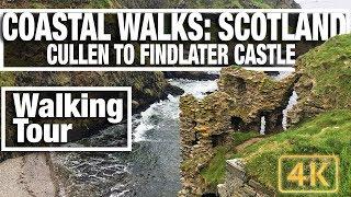 4K City Walks: Cullen to Findlater Castle - Scottish Coastal Walking Treadmill video