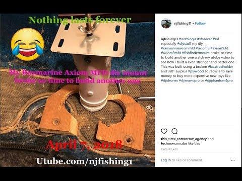 "Raymarine Axiom 9"" MFD DIY kayak mount broke so building a mount better than the old mount"