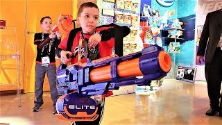Secret 2019 Nerf Blasters To Defeat Game Master! (Sharing With Trinity and Beyond)