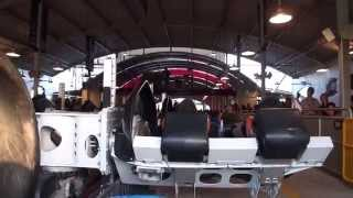 X2 : Scariest Roller Coaster Front POV Six Flags Magic Mountain California HD