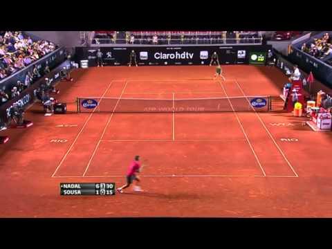 Rafael Nadal 2 VS 0 João Souza  Rio Open De Tênis 21.02.2014 Highlights