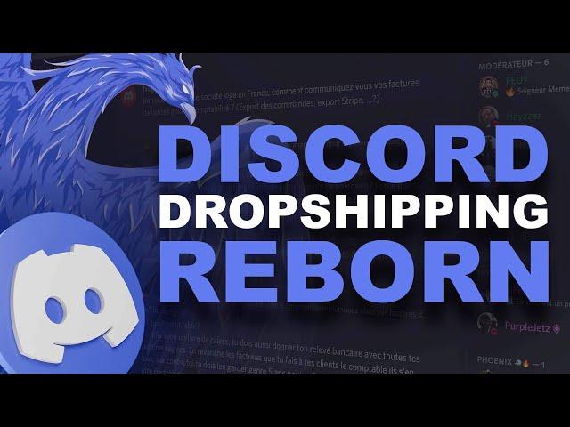 DISCORD DROPSHIPPING REBORN : Meilleur Serveur Français !