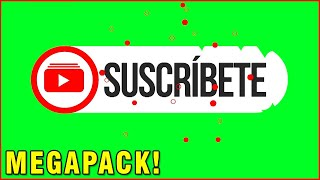 PANTALLA VERDE LIKE, SUSCRIBETE Y CAMPANITA - MEGAPACK +30 Chroma key Green Screen | JOEStream