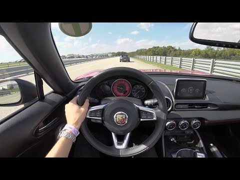 2019 Fiat 124 Spider Abarth Manual - POV Test Drive at Autobahn Country Club (Lead/follow)
