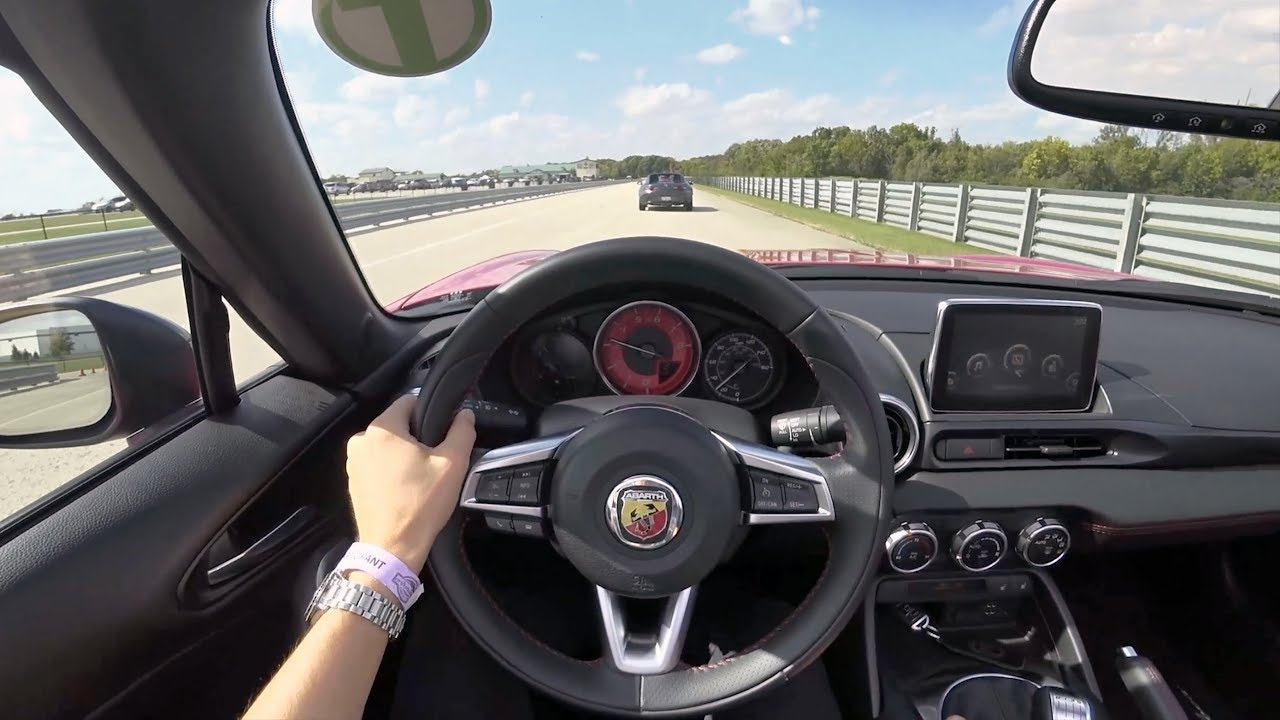 2019 Fiat 124 Spider Abarth Manual Pov Test Drive At Autobahn Country Club Lead Follow