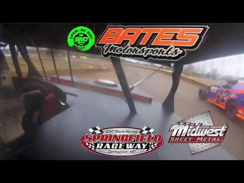 Kyle Bates in car Cam B-Main - Springfield Raceway opening Night 4-06-2019