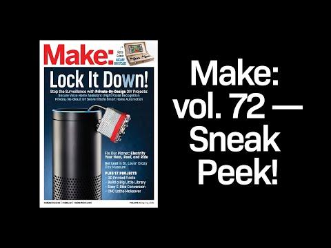 A sneak peek inside Make: magazine vol. 72