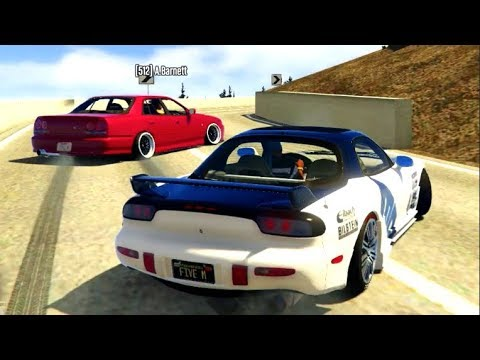 GTA 5 FiveM JUMP DRIFTS!! Drifting Ebisu/Touge- Mazda RX7 FD