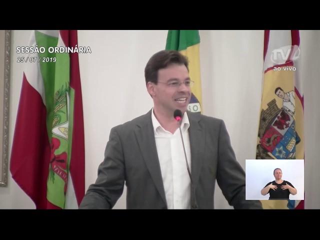 25/07/2019 - Pronunciamento Sessão Ordinária
