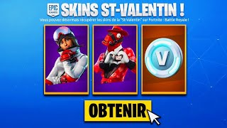 🔥 ALL THE FREE RECOMPENSES of THE EVENT SAINT-VALENTIN ON FORTNITE!