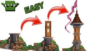 EASIEST TOWER IN MINECRAFT TUTORIAL!