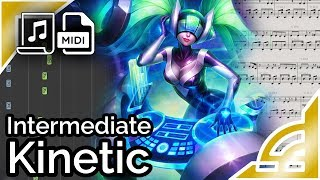 DJ Sona Kinetic (simplified) - League of Legends (Synthesia Piano Tutorial)
