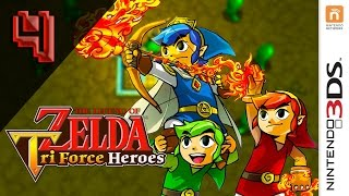 The Legend Of Zelda: Triforce Heroes - Walkthrough Part 4 - Stage 1-4 (Quick Whirling Walkthrough)