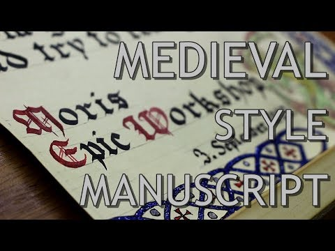 Medieval Style Manuscript - Making of - YouTube
