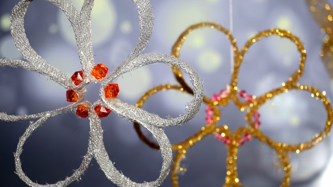 DIY Flower making from Plastic Bottle   Christmas Decorations Ideas   Diwali Decorations - YouTube