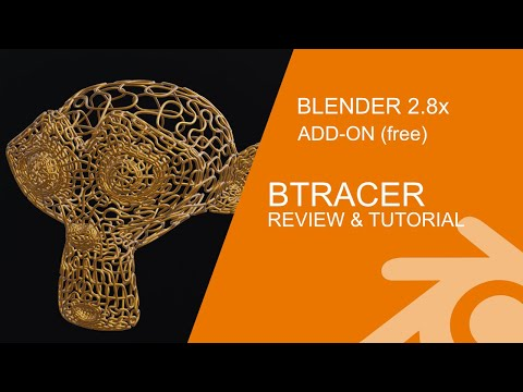 Blender 2.8 Add-on Review & Tutorial: BTracer Grow Curve Animation thumbnail