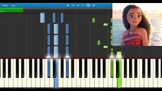vaiana moana le bleu lumire karaoke piano synthesia tutorial lyrics sheet music