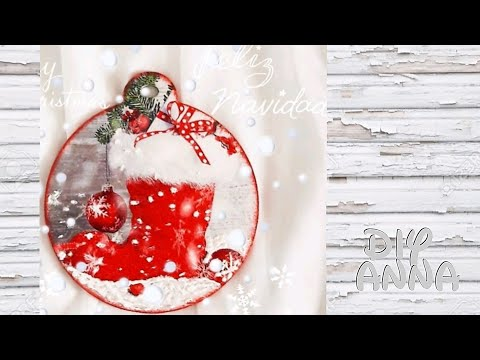 decoupage Christmas wooden decoration DIY ideas decorations craft tutorial / URADI SAM