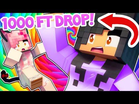Surviving A 1000 FOOT DROP In Minecraft VR