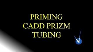priming cadd prizm pump tubing