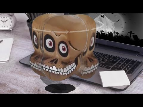 DIY  3D Amazing Floating  Skull Turns To look At You - Do It Yourself At Home -Optical Illusion.
