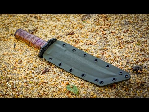 Making TANTO KNIFE-DAMASCUS Handguard and Pommel Part 3