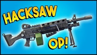 BEST LMG IN FORTNITE? - New Hacksaw LMG Review (Fortnite Gameplay)