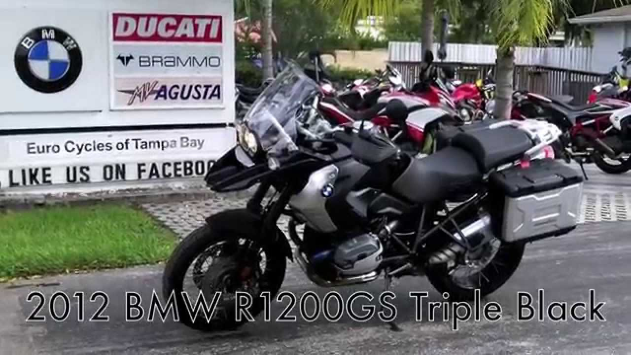 pre-owned 2012 bmw r1200gs triple black at euro cycles of tampa
