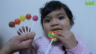 Funny Baby Learn Colors with Lollipop & Finger Family Song
