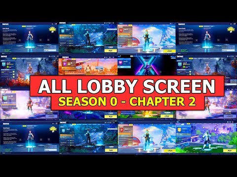 All Lobby Screens (Season 0 - Chapter 2) Evolution Of The Fortnite Lobby Screens!