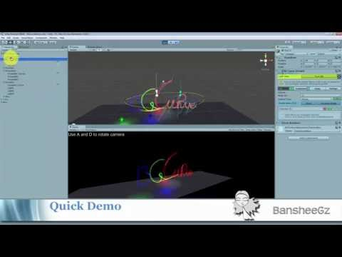 BG Curve v 1 1 Demo (Free Bezier spline editor for Unity 3D) by Banshee Gz
