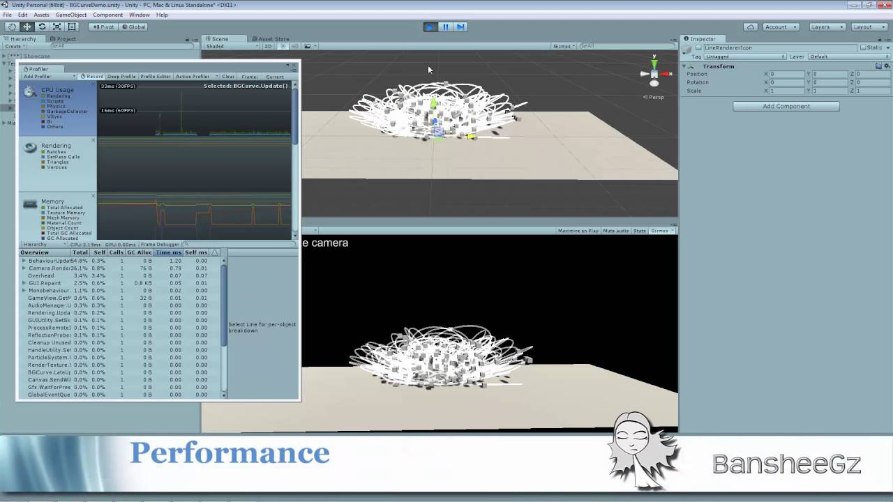 BG Curve v 1 1 Demo (Free Bezier spline editor for Unity 3D) - YouTube