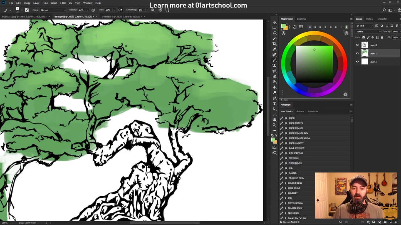 How to color TREES • a digital coloring tutorial - YouTube