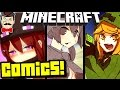 Minecraft ANIMATED COMICS! Mob Girls & Steve!