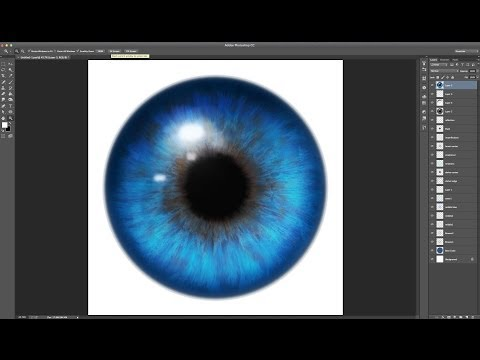Realistic Eyes Using Iris Parts Photoshop & GIMP Brushes Tutorial