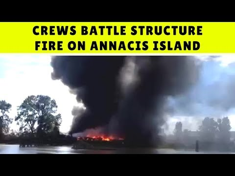 Crews battle structure fire on Annacis Island