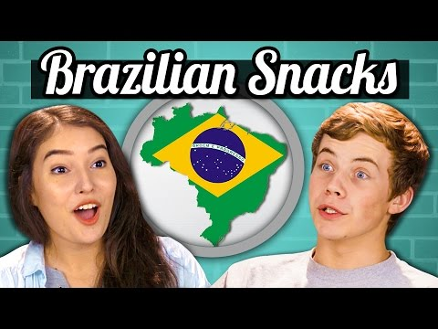 TEENS vs FOOD - BRAZILIAN SNACKS