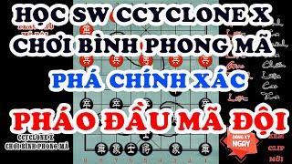 Học Cờ Tướng Bình Phong Mã phá chính xác Pháo Đầu Mã Đội từ phần mềm Ccyclone X bản quyền