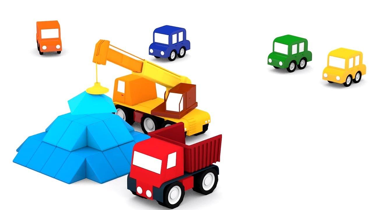lehrreicher zeichentrickfilm die 4 kleinen autos die blaue pyramide youtube. Black Bedroom Furniture Sets. Home Design Ideas
