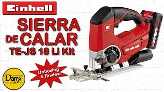 Sierra de calar Einhell TE-JS 18 Li Kit - Unboxing & review