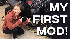 BUELL XB RIGHT SIDE AIR SCOOP INSTALL: My first mod on the Buell Lightning // GIRL MOTOVLOG