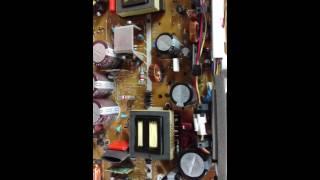 Panasonic TH-42PZ77U  dead set w/ 10 blinks